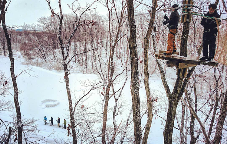 40 minutes from Sapporo! Please enjoy activities that can zip line for one year!